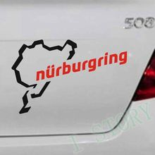 Free shipping The Racing Track Nurburgring Car Sticker ,  Race Car Motorsport Vinyl Decor Sticker For Car Body
