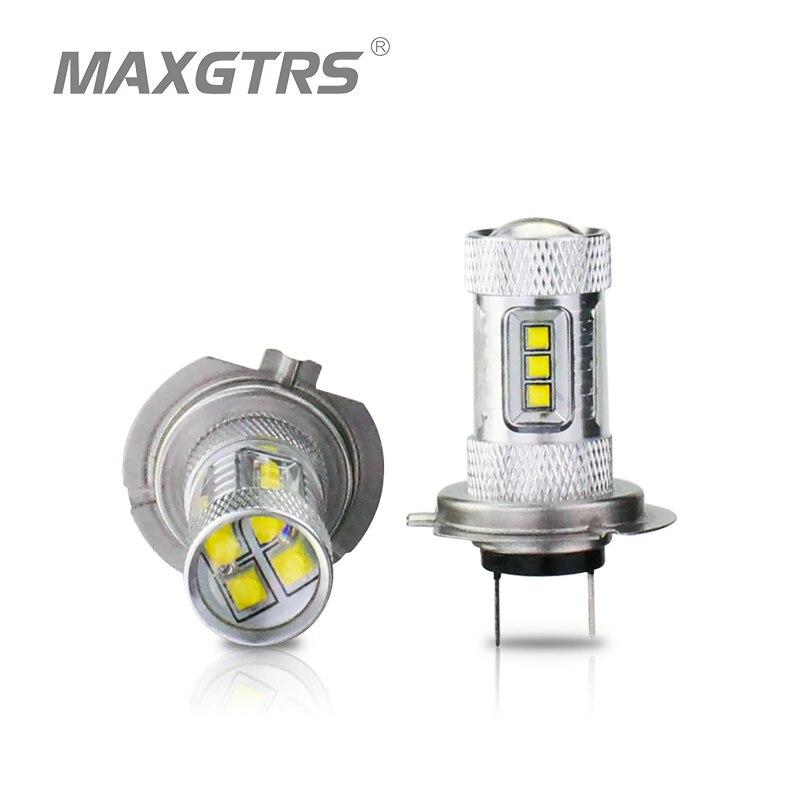 2X H4 H7 9003 HB2 30 Вт/50 Вт/80 Вт CREE чип XBD светодиодный Авто отложным воротником DRL сигнал Туман свет лампы реветь Белый/красный/желтый наружное освещ...