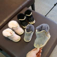 Winter new baby girls snow boots boys warm plush baby girls boots leather snow boot for kids cotton shoes toddler boots недорого