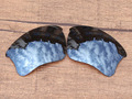 Iridio negro Espejo Polarizado Lentes De Repuesto Para Frame Sunglasses XLJ Flak Jacket 100% UVA y Uvb