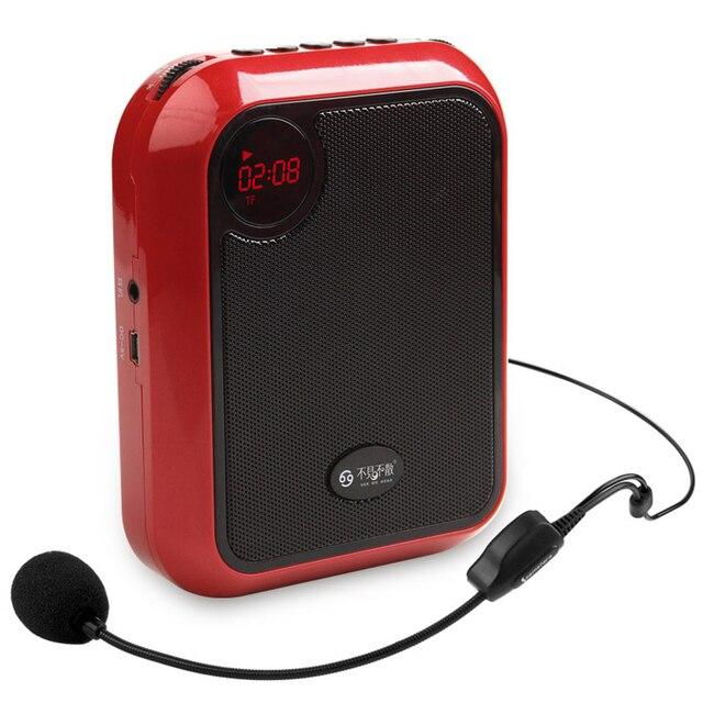 Me ver aqui T200 especial amplificador de microfone sem fio para Guia do Professor de Voz Externa Loud Speaker Suporte U Disk/TF cartão