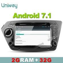 Uniway ZK28071 2G + 32G android de dvd del coche para Kia rio k2 2010 2011 2012 2013 2014 2015 2016 radio de coche con volante control