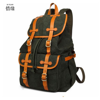 2017 Men Male Canvas Backpack College Student School Backpack Bags for Teenagers Vintage Mochila Casual Rucksack Travel Daypack tuguan brand fashion mesh pocket men backpacks school college student backpack bags for teenagers casual laptop daypack backbag