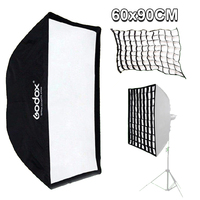 Godox 24''X 36'/60cm X 90cm Rectangle Umbrella Softbox Reflector 60*90cm with Honeycomb Grid For Studio Photo Flash Speedlite