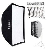 Godox 24''X 36'/60cm X 90cm Rectangle Umbrella Softbox Reflector 60*90cm with Honeycomb Grid For Studio Photo Flash Speedlite