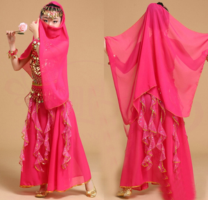 Image 4 - 5pcs Kid Belly Dancing Girls Belly Dance Costumes Children Belly Dance Girls Bollywood Indian Performance Dancewear Clothing Set
