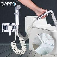 GAPPO Bidets bathroom hand shower bidet toilet sprayer hygienic shower bidet tap wall mounted bidet faucet