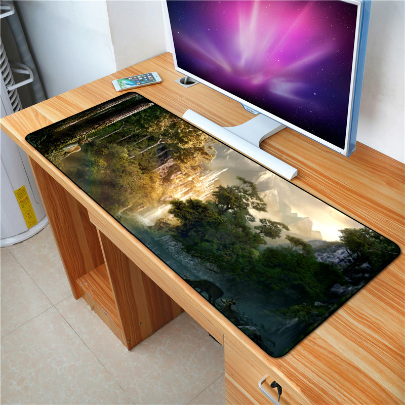 QQQRGB 70*30cm Forest Gaming <font><b>Mouse</b></font> <font><b>pad</b></font> <font><b>XL</b></font> Large padmouse gamer Big best seller PC desk Locking Edge mousepad laptop play mats image