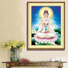 Diamond painted full living room bedroom new Guanyin Buddha statue religious decoration painting diy cross stitch
