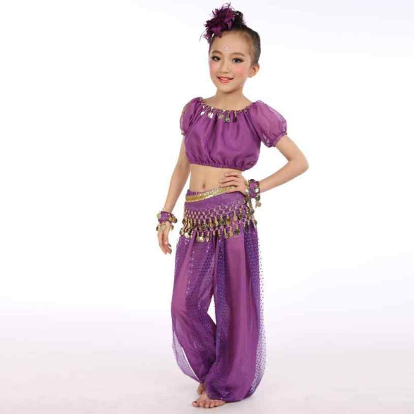 2018 แฟชั่นเด็กสาว Belly Dance Belly เต้นรำอียิปต์เต้นรำเด็กชุดเสื้อผ้า 6.18