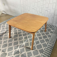 Wooden Kotatsu Table Natural Color For Home And Living Room Furniture Wood Kotatsu Heated Coffee Table