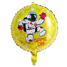 Space Man Runing Foil Balloons ChildrenToy Baby Shower Decoration For Boy Birthday Party Supply Giant Rocket Balloons Globos space astronaut toy kids baby shower decoration for boy birthday party supply giant rocket balloons globos