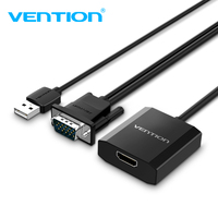 Vention VGA to HDMI Converter VGA HDMI Adapter Cable VGA to HDMI Audio Connector 1080P for PC Laptop Notebook to HDTV Projector