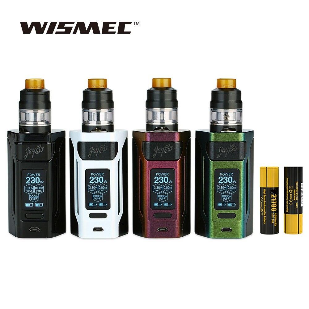 Originale WISMEC Reuleaux RX2 21700 230 W TC Kit con 8000 mAh Batteria & 2 ml/4 ml Gnome Scatola Serbatoio Max 230 W di Uscita Vape Mod Vs RX Gen3