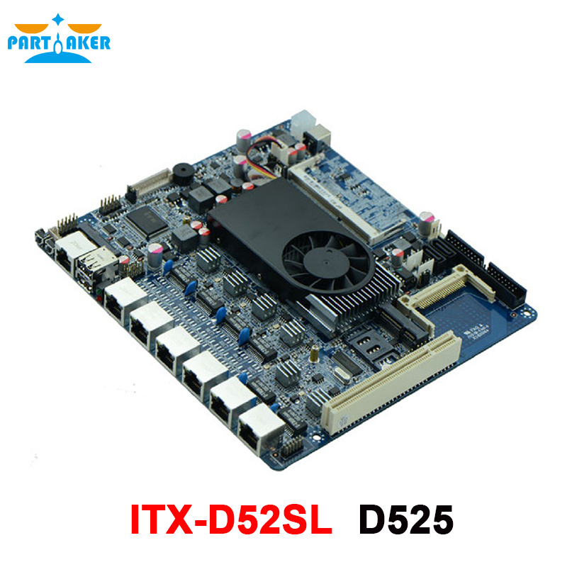 6* 82583V Intel Gigabit LAN D525 Processor Firewall Appliance Mainboard with Mini-PCIE support WIFI 3G