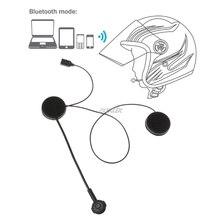 Motorcycle Helmet Bluetooth Wireless Intercom Headset Earphone Speaker For Smartphone Z07 Drop ship