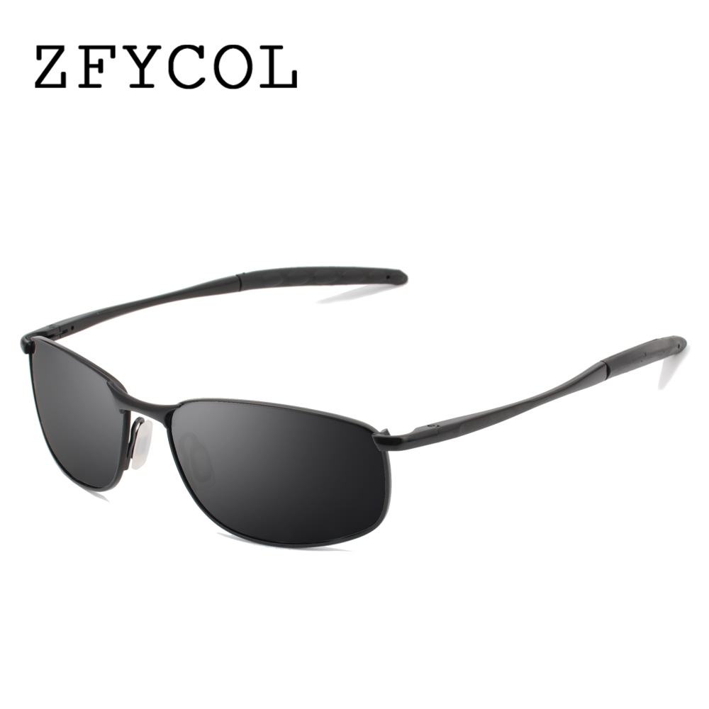 ZFYCOL Sunglasses Men Polarized Famous Brand Designer Driving Sun glasses Male Mirror