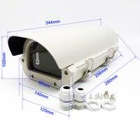 CCTV 카메라 256*125*102 미리메터 하우징 야외 방수 더블 잠금 방수 알루미늄 커버 kamera 주택