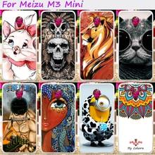 Tampa do telefone de plástico rígido para meizu m3 mini m3 mini azul charme 3 3 s Casos Meilan 3 Meilan3 Especialmente Projeto Tampa Traseira habitação
