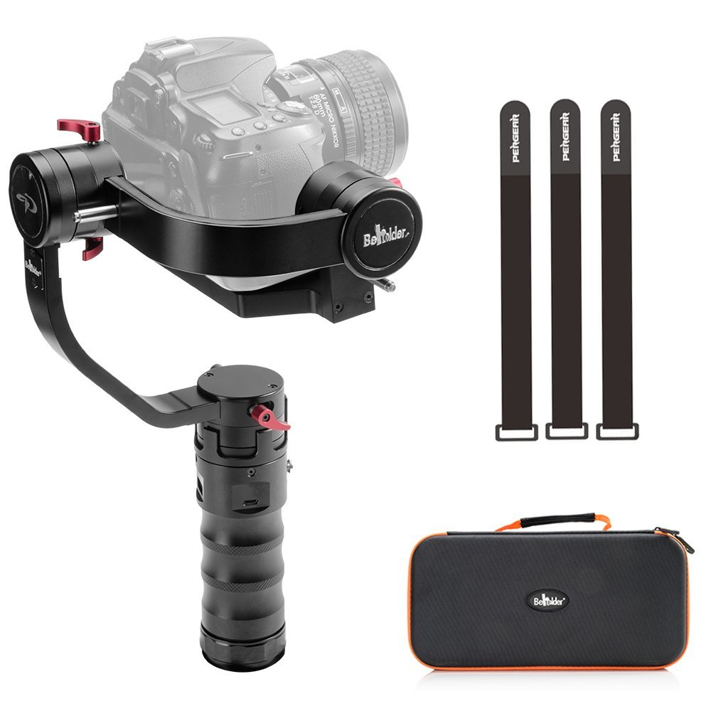 Beholder DS1 3 Axis Brushless Handheld Gimbal Stabilizer 32bit Controller with Dual IMU Sensors for DSLRs Max Support Weight 2kg beholder d2 carbon fiber dual handle grip with arch rectangular plate and pergear magic stickers for beholder ds1 ms1 stabilizer