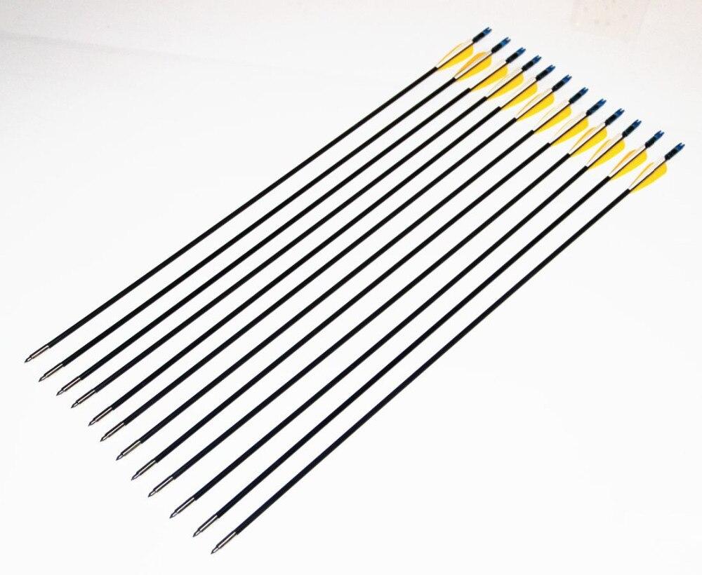 Бесплатная доставка Волокно стекла стрелка 80 см spine700 с Оранжевый Перо для изогнутый лук стрелка или длинный лук Волокно стрелки 18 шт./25 шт.