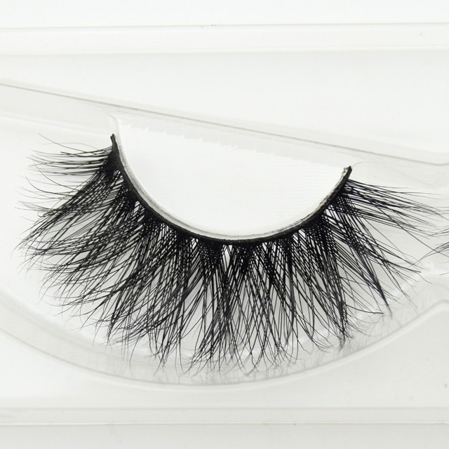 e91103e9112 visofree 1 pair 3d mink lashes wholesale 100% real mink fur Handmade  crossing lashes individual strip thick lash D22