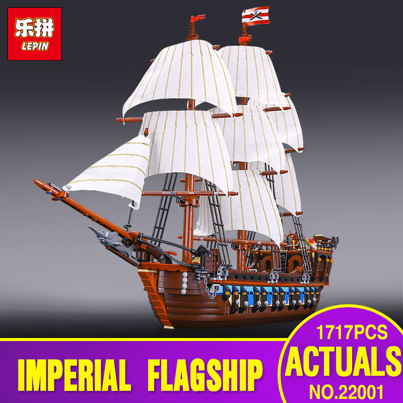 NEW LEPIN 22001 Pirate Ship warships Model Building Kits  Block Briks Toys 1717pcs Compatible With 10210 Children Gift lepin 22001 imperial warships 16002 metal beard s sea cow model building kits blocks bricks toys gift clone 70810 10210