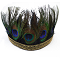 Fashion 2 designs balck ribbon head chain gold  tiara peacock feather crown headband women's headband bridal accessories
