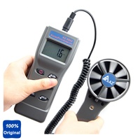 AZ8911 Portable Remote Fan Anemometer Air Flow Meter Temperature / Humidity / Dew / Wet Bulb / Wind Speed Meter