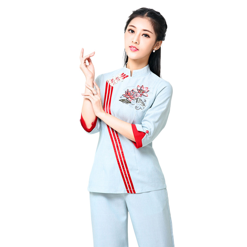 Popular spa uniform design buy cheap spa uniform design for Spa uniform cotton