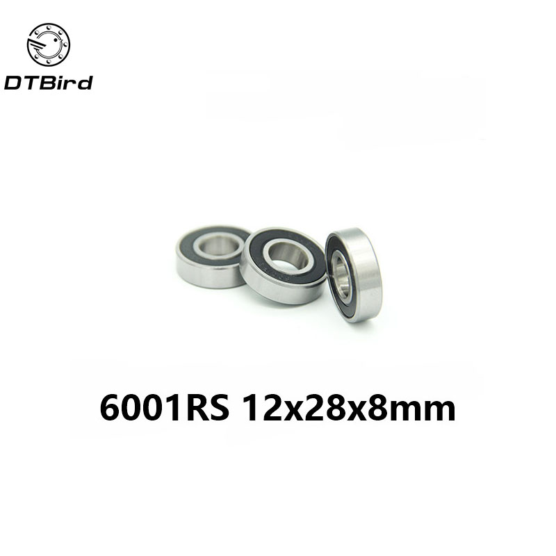 1pcs 6001-2RS 6001RS 6001 RS 12*28*8mm hybrid ceramic ball deep groove ball bearing 12x28x8mm for bicycle part цена и фото