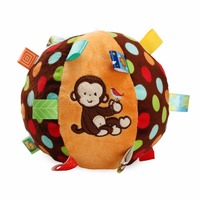 1pc Night Sleepy Funny Monkey Polyhedral Ball Baby Hand Grasp Label Pacify Rattles Bell Early Development