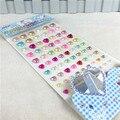 Frete grátis full cor pérola telefone de cristal strass coração personalizado adesivo Diy Scrapbooking acrílico Decor Decal Stickers