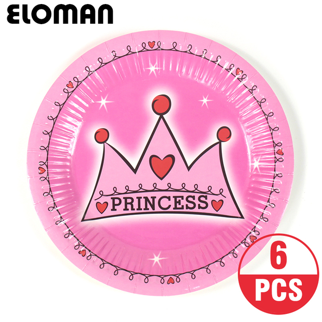 6PCS 7inch princess paper plates for girl birthday party decoration child birthday diposable tableware suppliues  sc 1 st  AliExpress.com & 6PCS 7inch princess paper plates for girl birthday party decoration ...