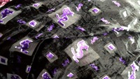 Telas Violet music notation printed High Quality African Lace Silk Fabric Sewing dress scarf Silk Velvet cotton Fabric Tissue
