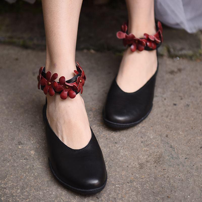 Artmu Original Flowers Women Shoes Female Flats Shoes Women Handmade Leather Casual Girls Dress Shoes Fashion
