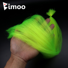 Bimoo 1 bag Ultra-fine Nylon Yarn Fly Tying Streamer Fiber Bait Fish jig Head Material Pink Chartreuse Red Orange Yellow