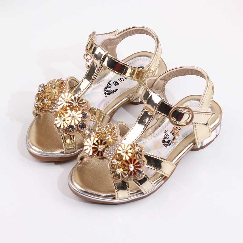 6a5aca75e Children S Sandals For Girls Summer Kids Baby Fashion Shoes Rhinestone  Princess Shoes With Bow Girls High