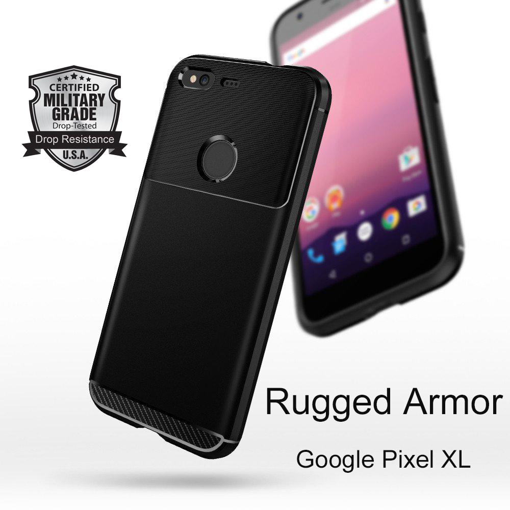 Aliantech Google Pixel XL Rugged Armor Case with Resilient Shock Absorption and Carbon Fiber Design for Google Pixel XL