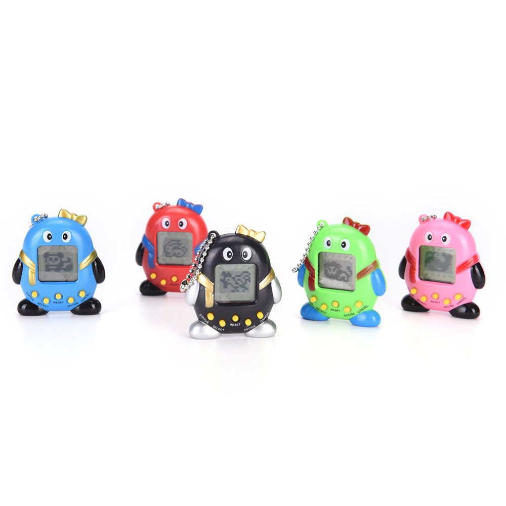 MINI Plastic Electronic Game Machine Virtual Pet Cyber Pet Digital Pet Tamagotchi Penguins Gift Toy Handheld Game Gift