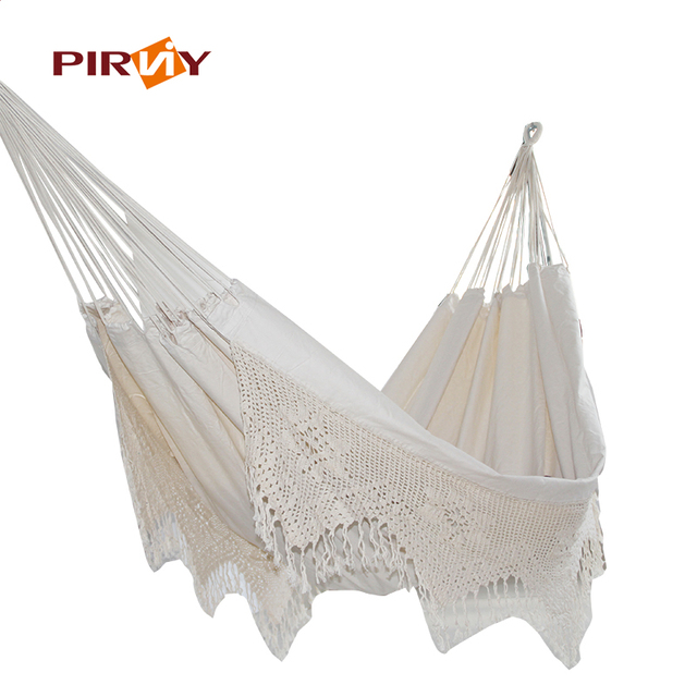 Ultra-Large 2 Person Cotton Hammock With Tassel Garden Swing Bed Outdoor Double  Aerial Yoga Hammock Hanging Chair Euro Standard