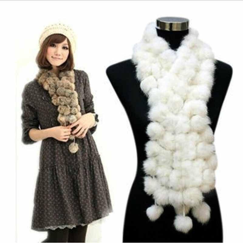 100/% real knitted mink fur scarf shawl neckerchief muffler cape wrap fashion 01