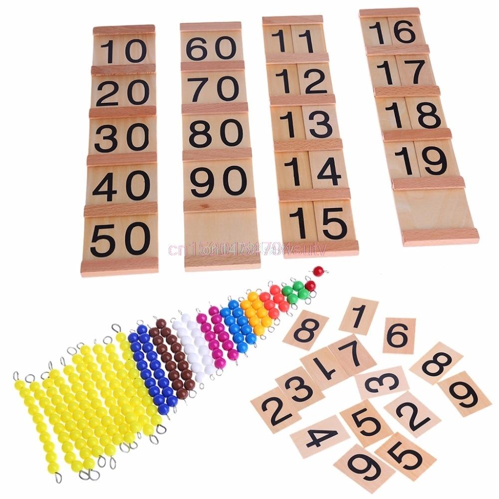 Wooden Math Intelligence Sticks Figures Kids Preschool Educational Toys Gift #H055#