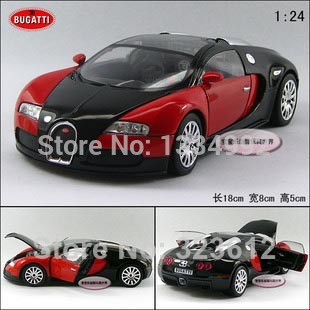 New Car Toy For Children 1/24 Scale Bugatti Veyron Sports Car Super Cool  Racing