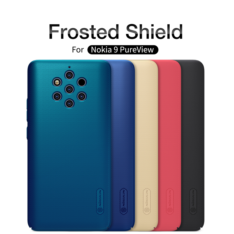 Nokia 9 PureView Case Cover Case Original NILLKIN Super Frosted Shield For Nokia 9 PureView Matte Case with Phone Holder