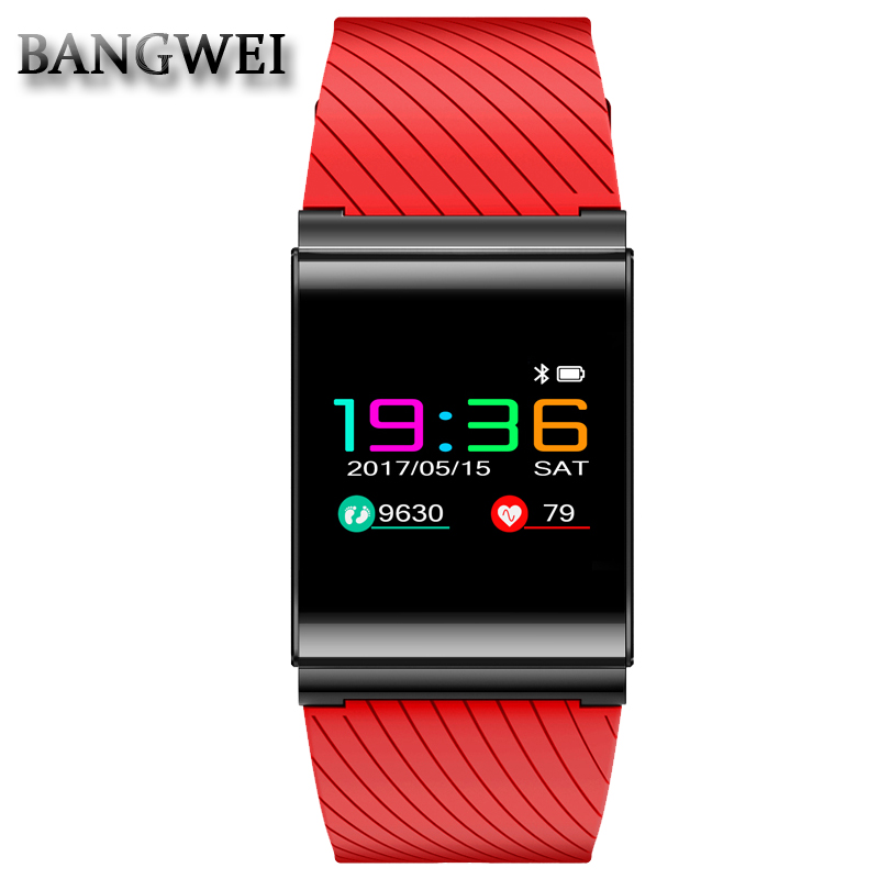 все цены на BANGWEI Men Women Sport Smart Bracelet Watch Heart Rate Blood Pressure oxygen Sleep Monitor Pedometer IP67 Bluetooth Smart watch онлайн