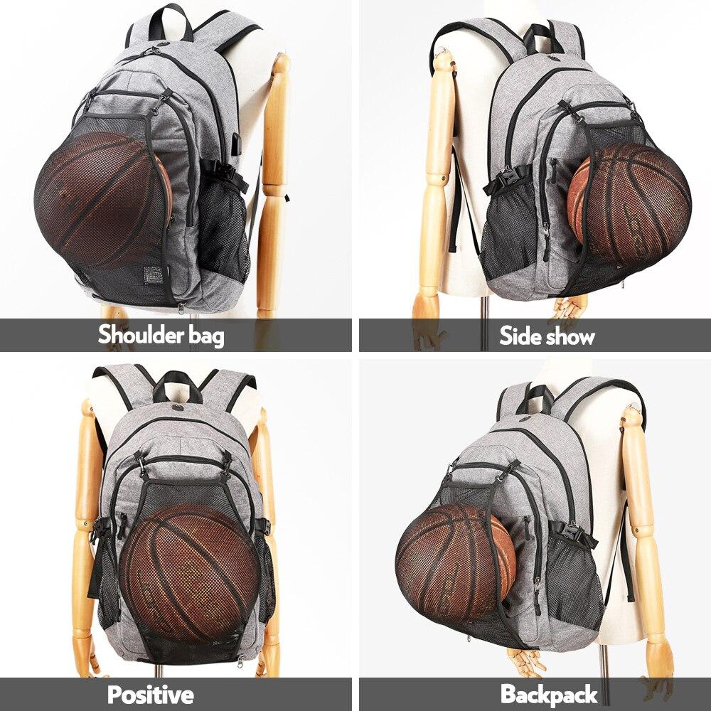 Популярные мужские спортивные баскетбольные сумки для спортзала, рюкзак, школьные сумки для подростков, сумка для футбольных мячей, сумка для ноутбука, сумка для фитнеса с сеткой для футбола-4