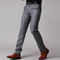 Nova Moda Dos Homens de Negócios Calças Formais Terno Calças Dos Homens Calças Slim Fit Projeto feito Sob Encomenda