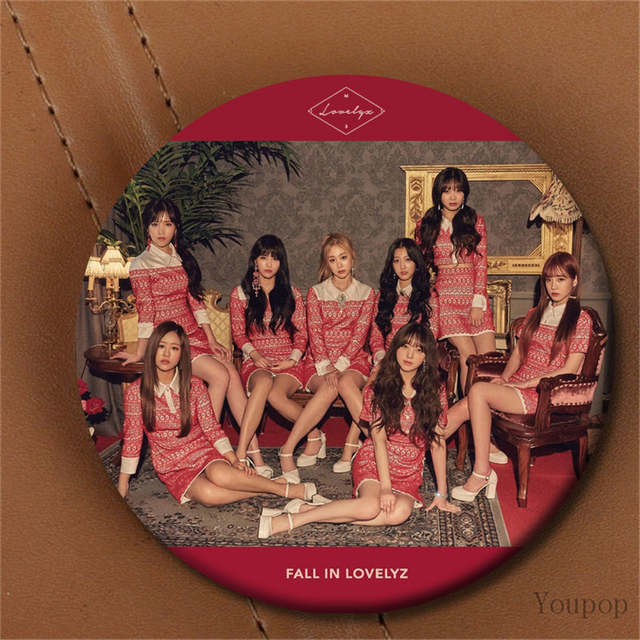 Youpop KPOP Korean LOVELYZ DIARY 3rd Mini Album Fall In Lovelyz Photo 58mm  Round Badge Pins Brooches For Clothes Hat Backpack
