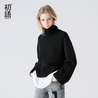Toyouth Autumn Winter Women Sweater 2017 Fashion Loose Cotton Warm Femme Clothing Casual Turtleneck Long Sleeve